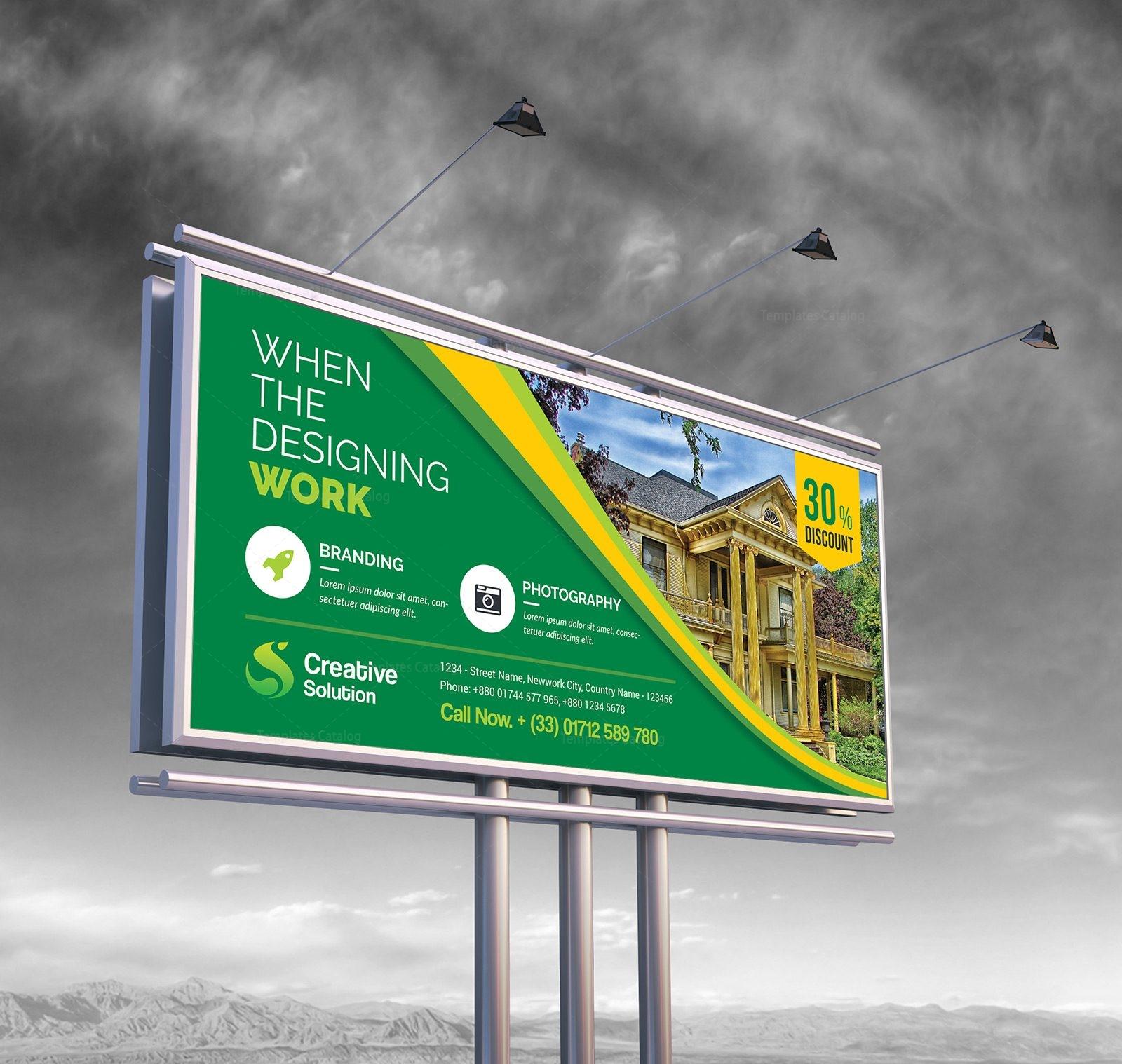 Real Estate Billboard Banner Template Graphic Nova Stock Graphic Store